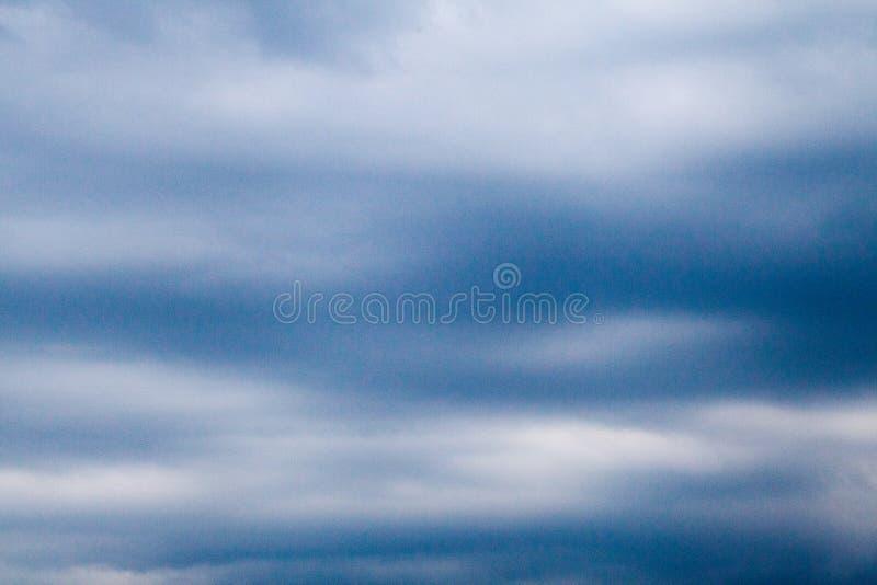 Overcast sky with dark clouds stock photos