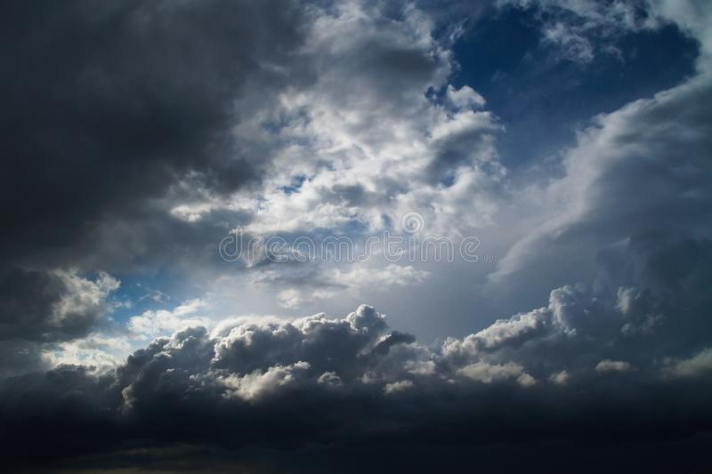 Overcast sky with storm clouds. Overcast sky with gray, storm clouds royalty free stock photo