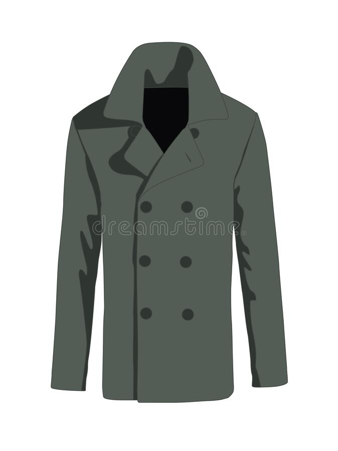 Free Overcoat Men Fashion Vector Green Stock Photo - 171930650