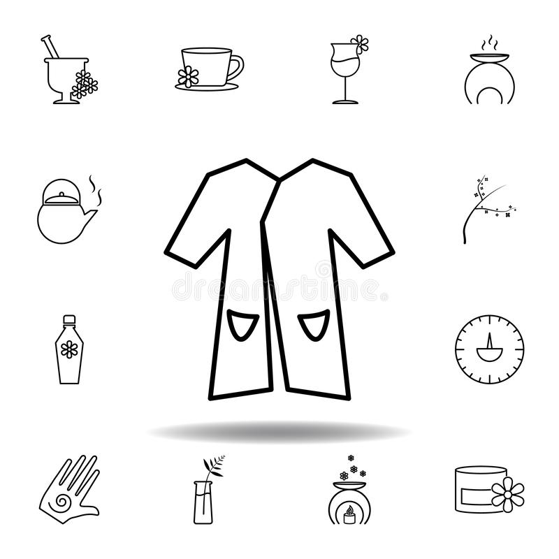 hanger with shirt filled outline icon stock vector