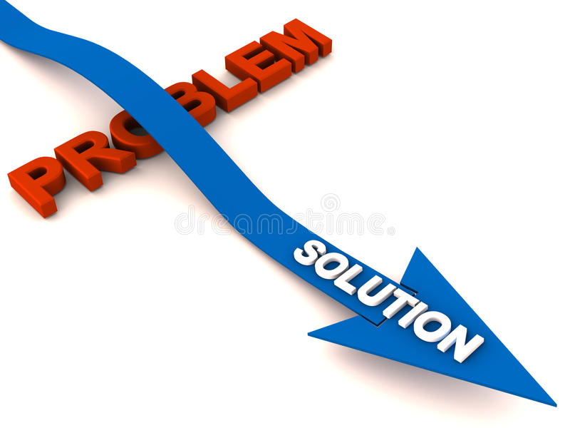 Overcome problem with solution royalty free illustration