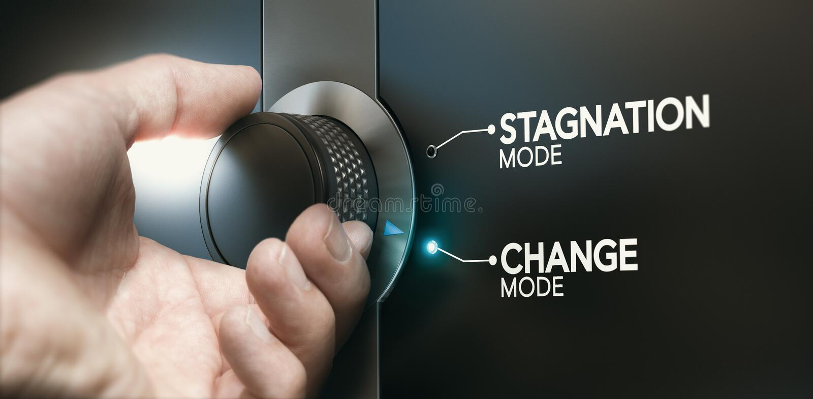Overcoming stagnation, switching career to evolve royalty free stock photo