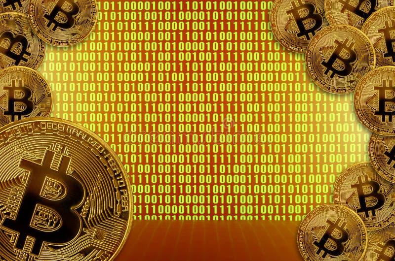 Overdracht of uitwisselings digitaal geld door blockchaintechnologieën royalty-vrije illustratie