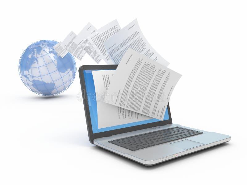 Overdracht van documenten. stock illustratie