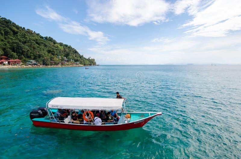 Overdrachtveerboot in Pulau Perhentian royalty-vrije stock fotografie