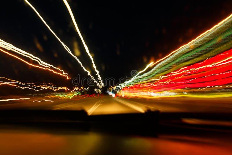 Overdreven snelheid door dronken bestuurder royalty-vrije stock afbeeldingen