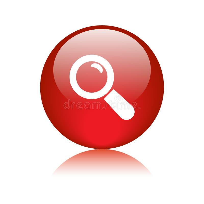 Overdrijf de knoop van het pictogramonderzoek royalty-vrije illustratie