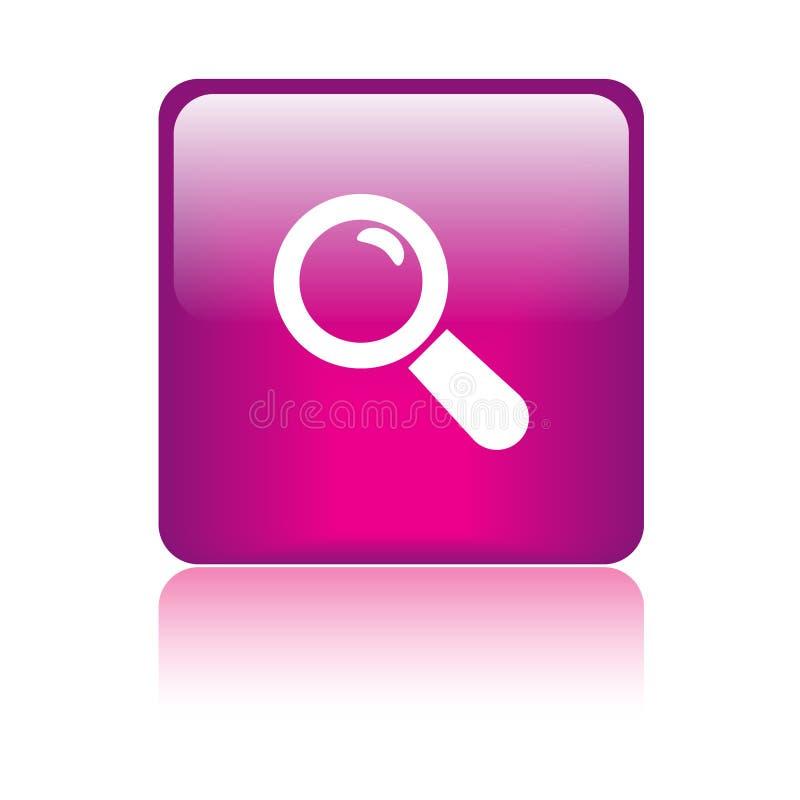 Overdrijf de knoop van het pictogramonderzoek stock illustratie