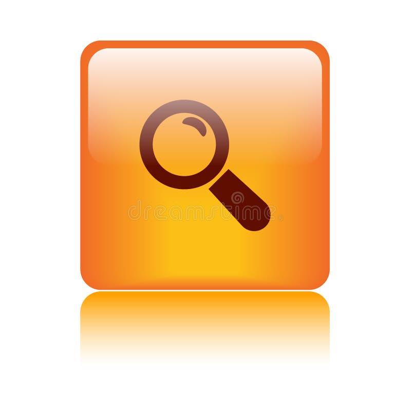 Overdrijf de knoop van het pictogramonderzoek vector illustratie