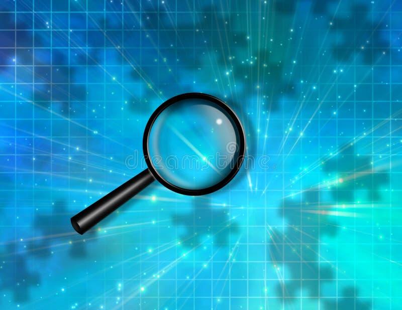 Overdrijf het Stuk van het Glasraadsel vector illustratie
