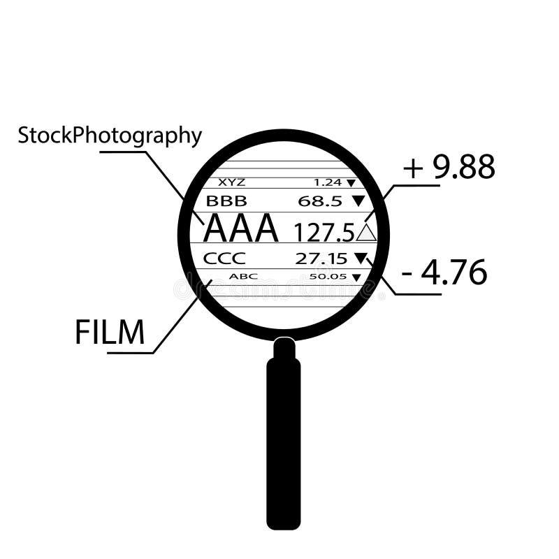 Overdrijvende voorraadgegevens royalty-vrije stock foto