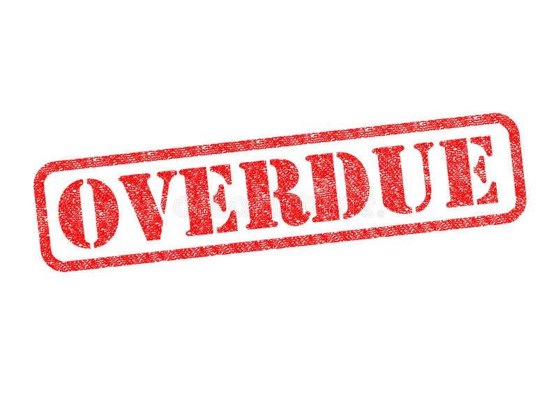 overdue ilustração do vetor