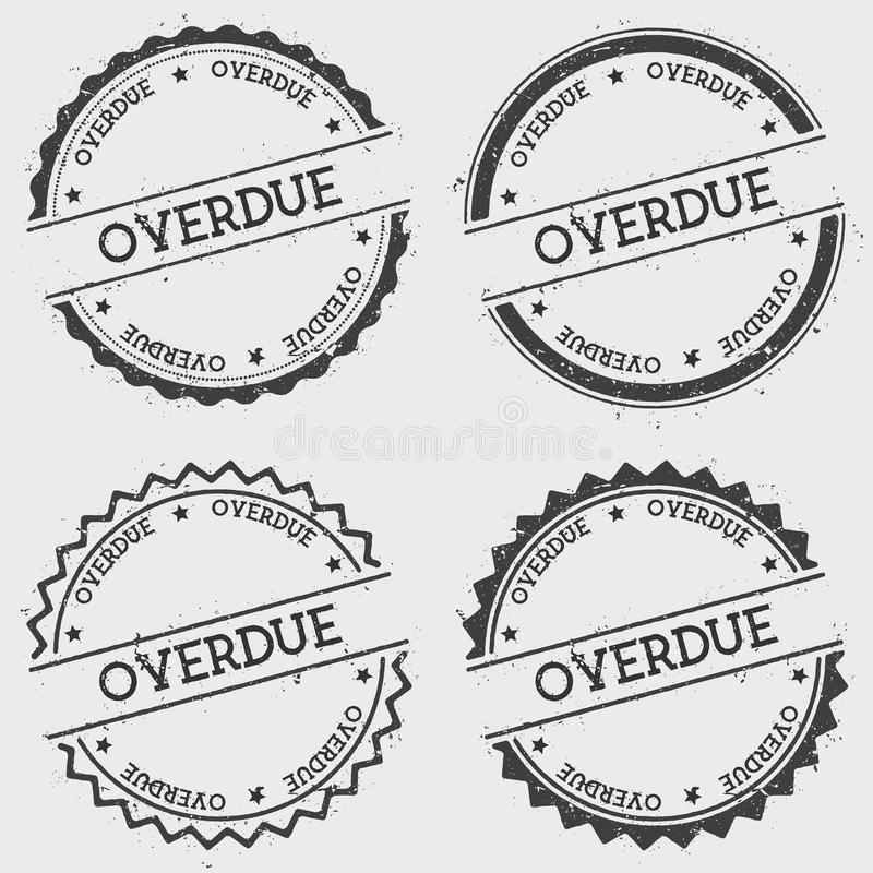 Overdue insignia stamp isolated on white. royalty free illustration