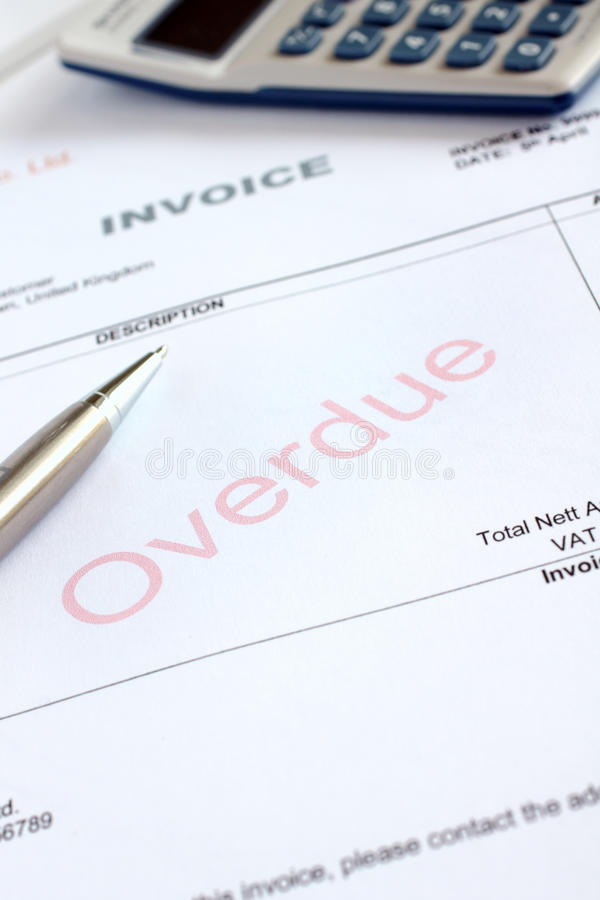 Overdue Invoice stock photography