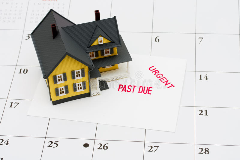 Overdue Mortgage royalty free stock photography