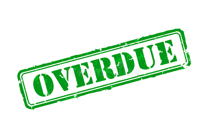 Overdue rubber stamp vector illustration