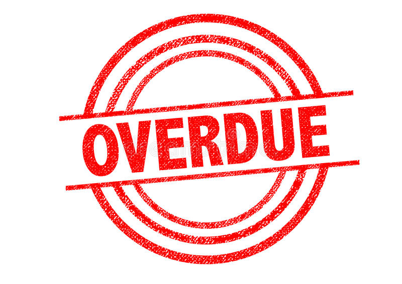 OVERDUE Rubber Stamp. Over a white background vector illustration