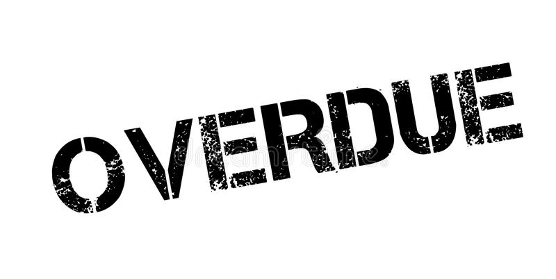 Overdue rubber stamp. Grunge design with dust scratches. Effects can be easily removed for a clean, crisp look. Color is easily changed vector illustration