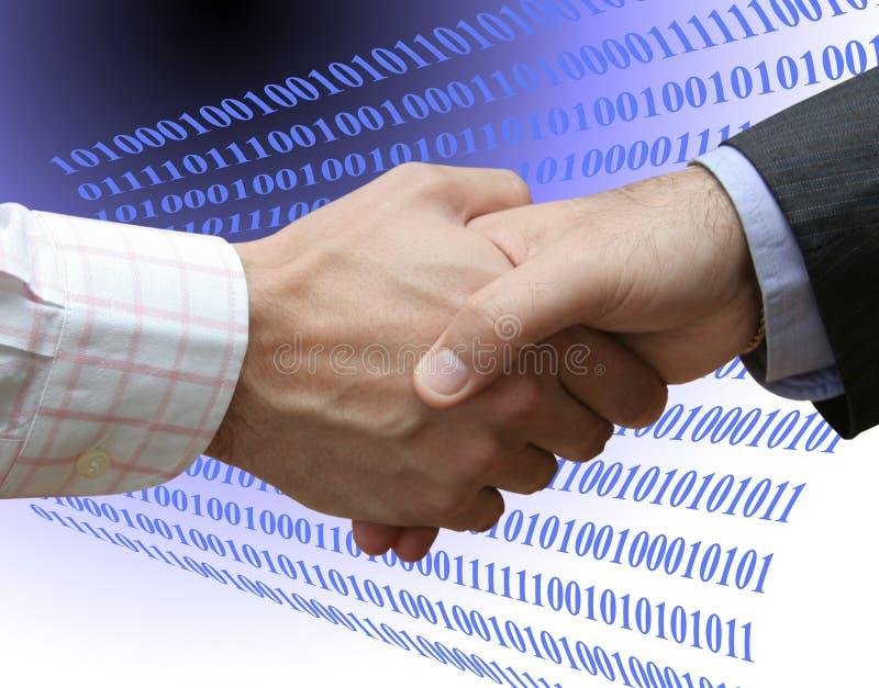Overeenkomst met technologie stock afbeeldingen