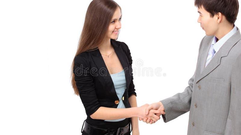 Overeenkomst over de conclusie van het contract Partnerbespreking royalty-vrije stock afbeeldingen