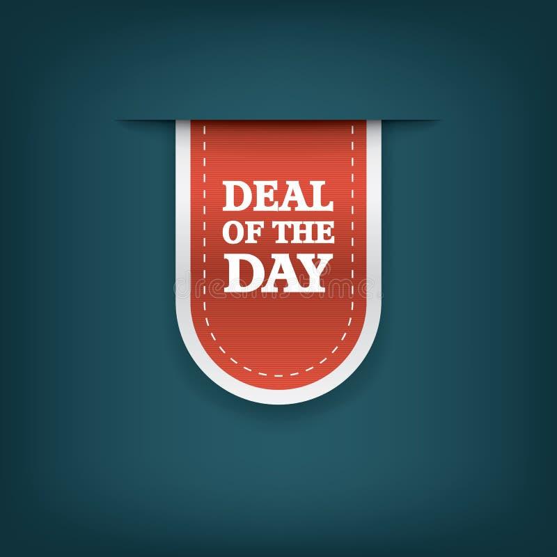 Overeenkomst van de de referentiemarkering van het dag verticale lint royalty-vrije illustratie