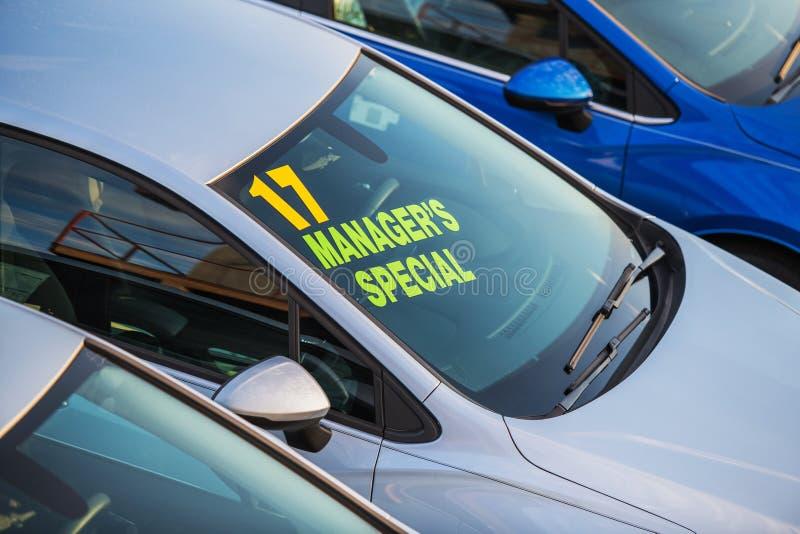 Overeenkomst van de managers de Speciale Auto royalty-vrije stock fotografie