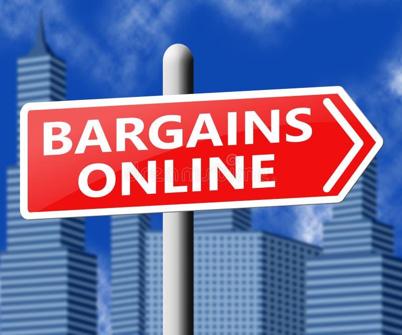 Overeenkomst van koopjes de Online Tonende Internet 3d Illustratie stock illustratie