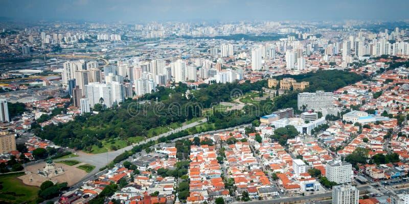 Overflight no museu do helicopterIpiranga de São Paulo Brazil fotos de stock royalty free