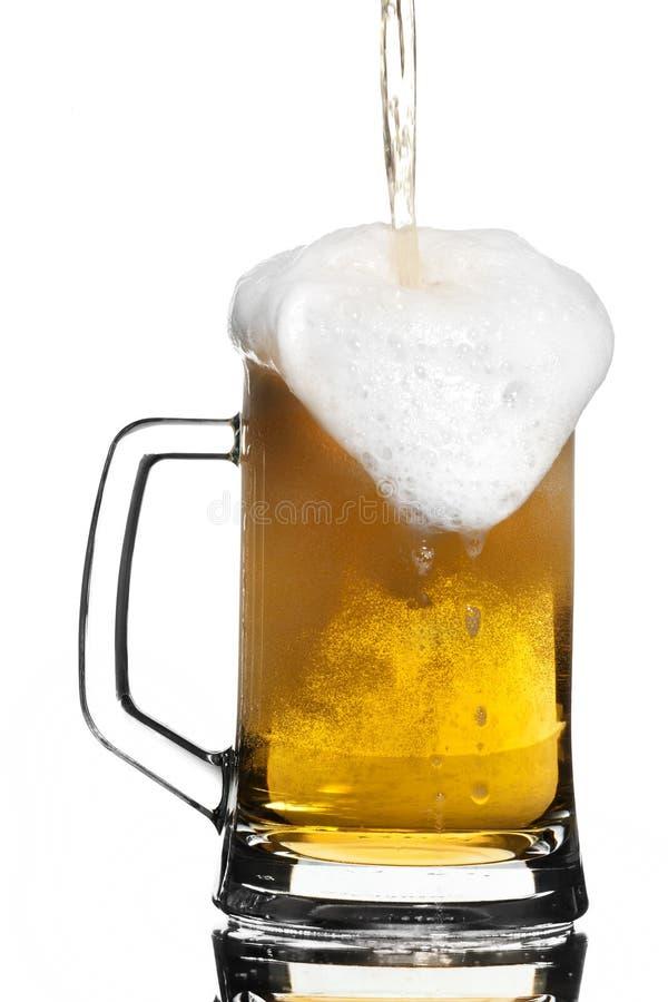 Overflow della birra fotografia stock libera da diritti