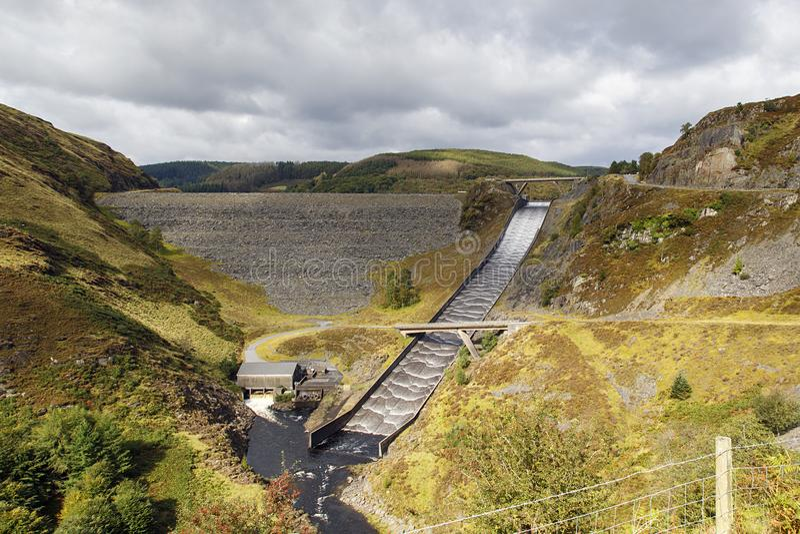 Llyn Brianne Reservoir stock image