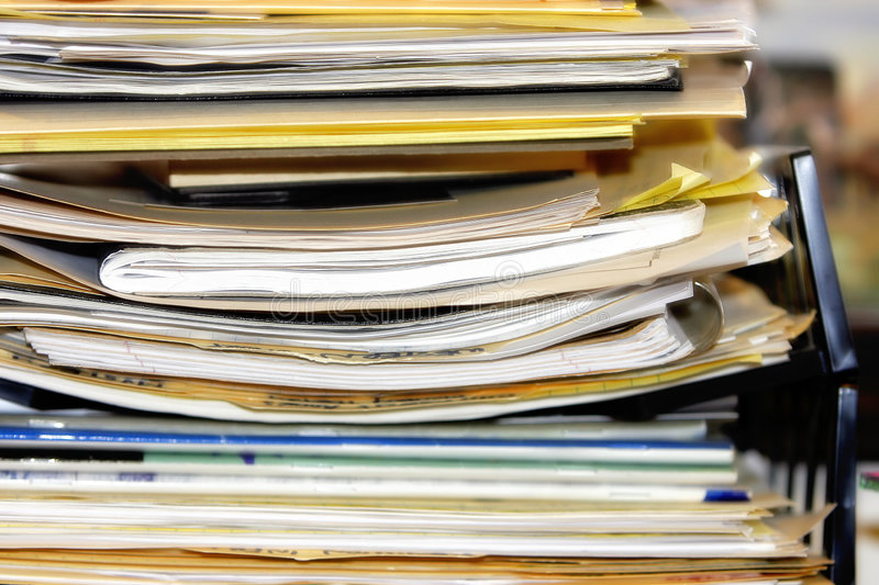 Download Overflowing Paperwork Pile #2 Stock Photography - Image: 2134462
