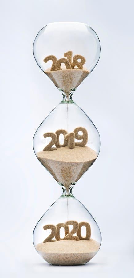 Overgaand in Nieuwjaar 2019, 2020 stock foto