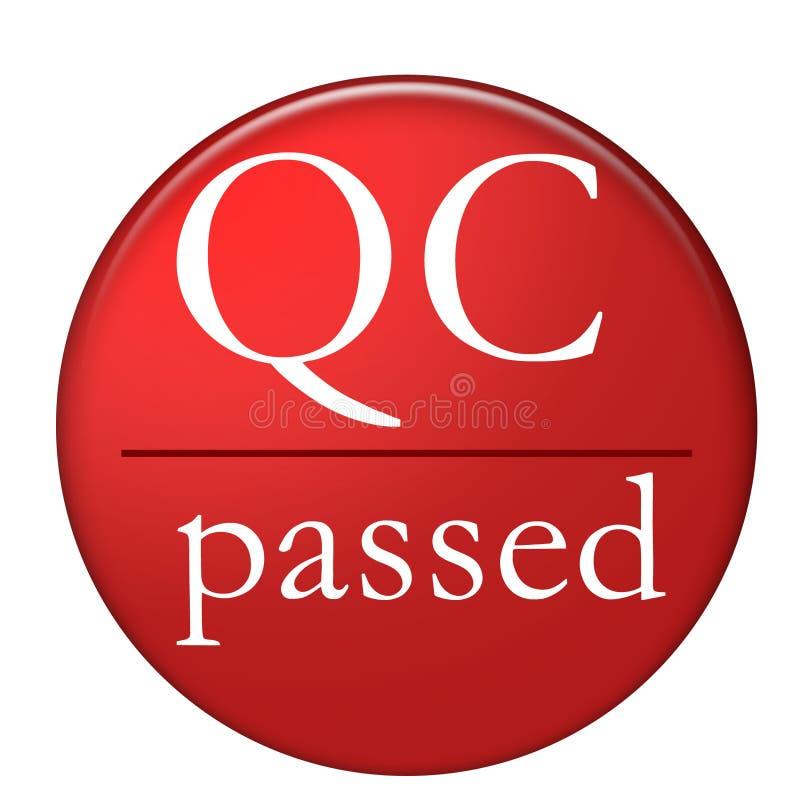 Overgegaan QC stock illustratie