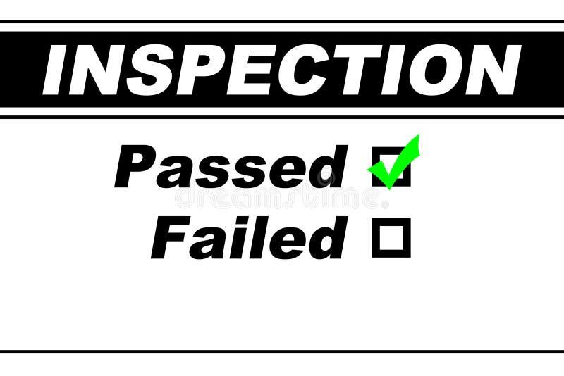 Overgegaane de Resultaten van de inspectie royalty-vrije stock fotografie