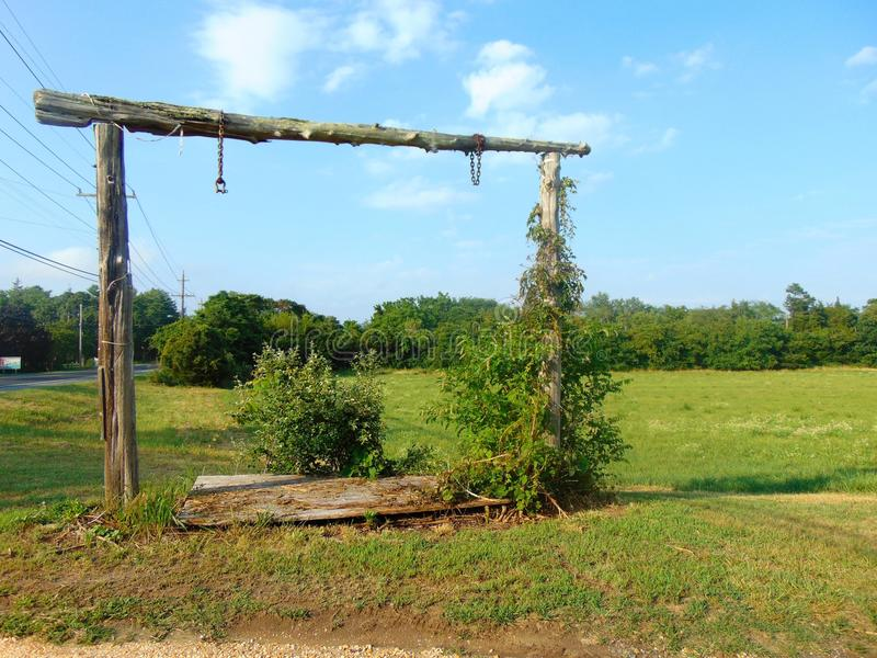 Overgrown Corral Gate royalty free stock image