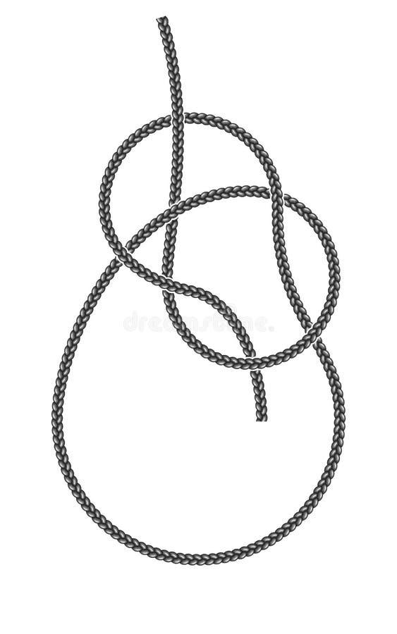 Overhand узел булиня бесплатная иллюстрация