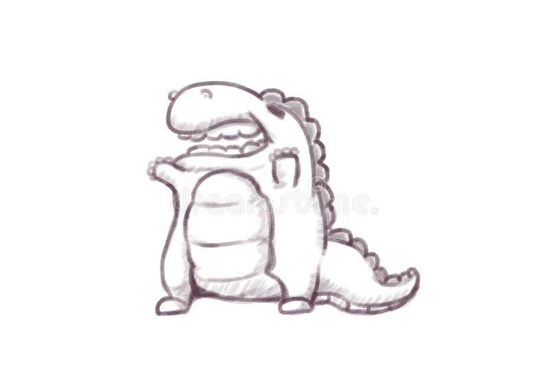 Overhandigt op Dinosaurus royalty-vrije stock foto's