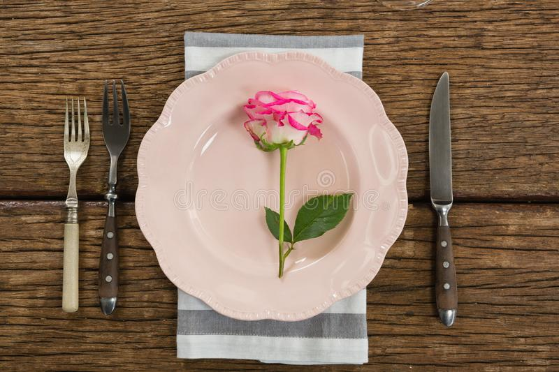 Elegance table setting on table stock images