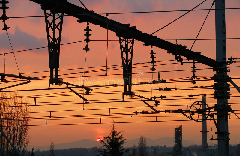 Overhead-line stock photo
