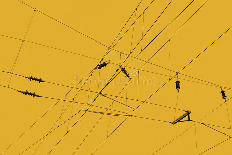 Overhead Lines Royalty Free Stock Photography