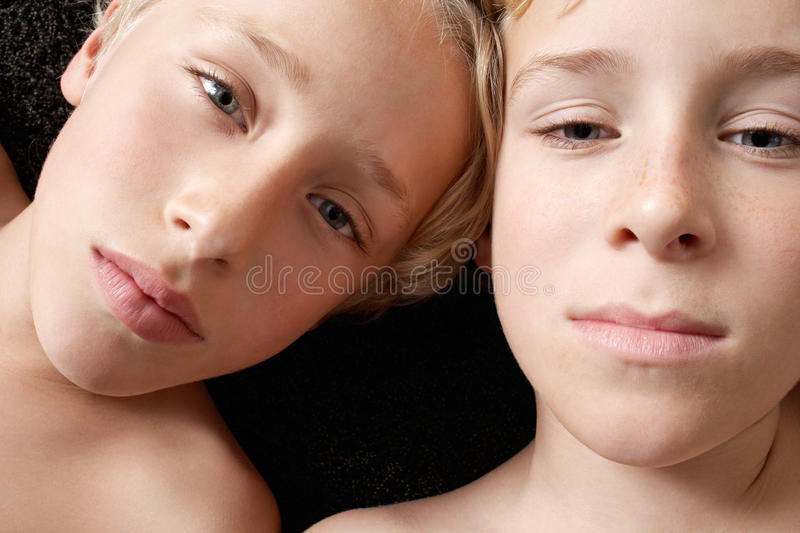 Download Overhead Portrait Of Brothers. Stock Photo - Image: 29314302