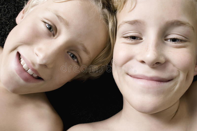 Download Overhead Portrait Of Brothers. Stock Image - Image: 29314323