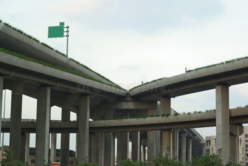 Overhead road stock photography
