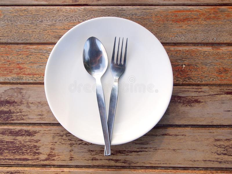 Overhead shot of an empty dish. Close up royalty free stock image