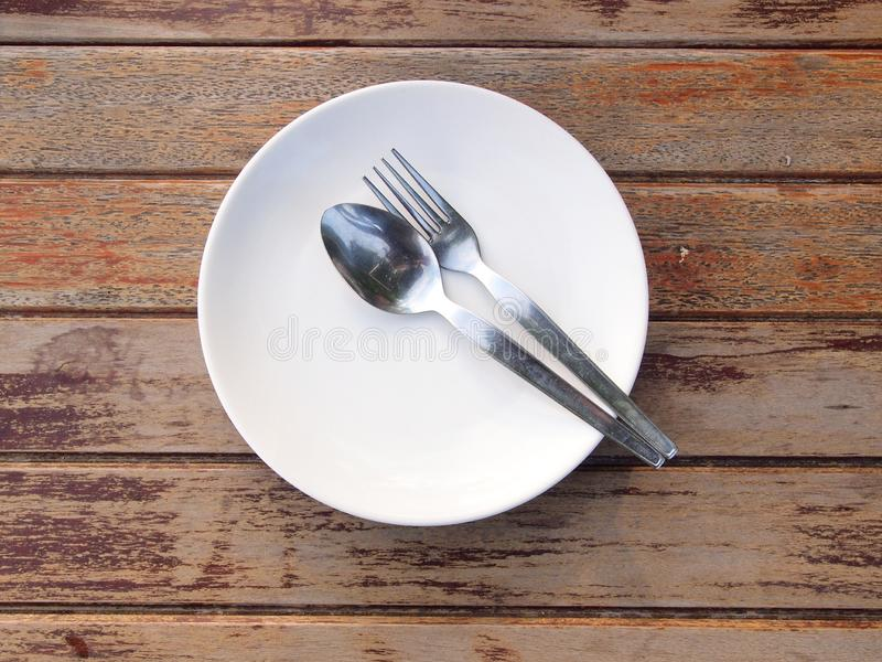 Overhead shot of an empty dish. Close up stock photo