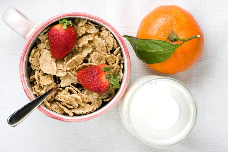 Healthy Breakfast Top View stock image