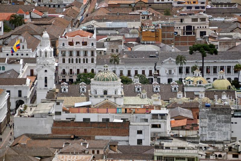 Overhead view of Quito Presidential Palace stock image