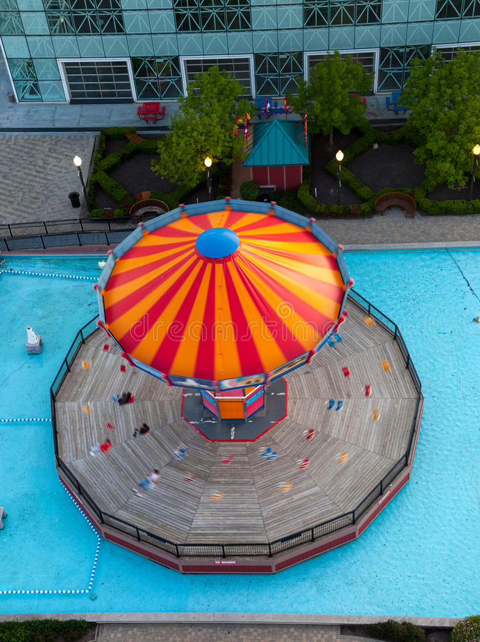 Download Overhead View Of Carousel On Navy Pier Stock Image - Image: 24989133