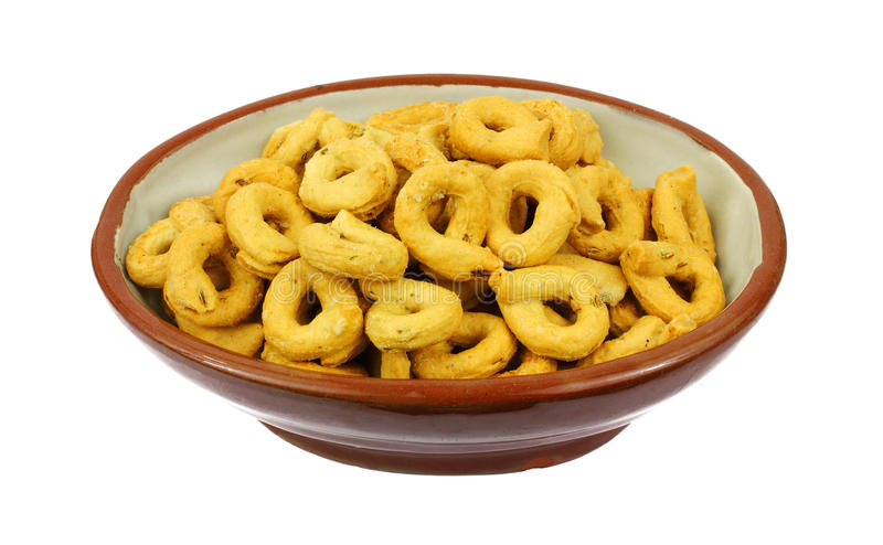 Download Overhead View Fennel Flavored Snack Rings Stock Image - Image: 16668709