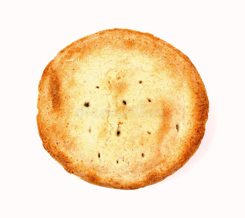 Overhead View Individual Apple Pie. A golden brown individual apple pie crust royalty free stock photo